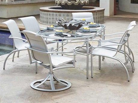 Woodard Nob Hill Padded Sling Aluminum Dining Set