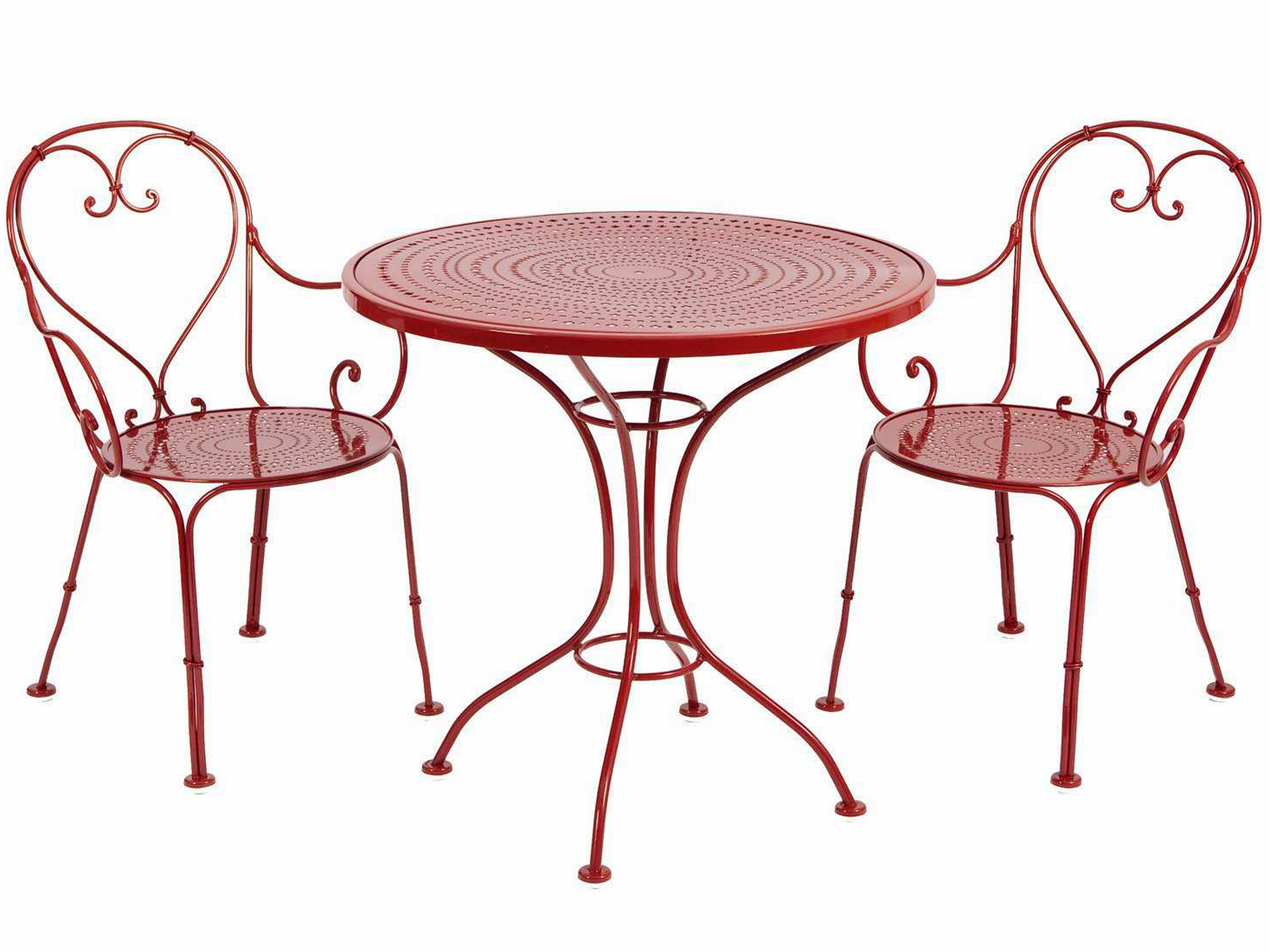 Woodard parisienne wrought iron bistro dining set wrpards