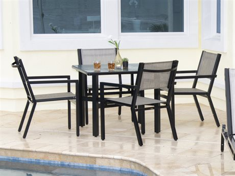 Woodard Palm Coast Sling Aluminum Dining Set