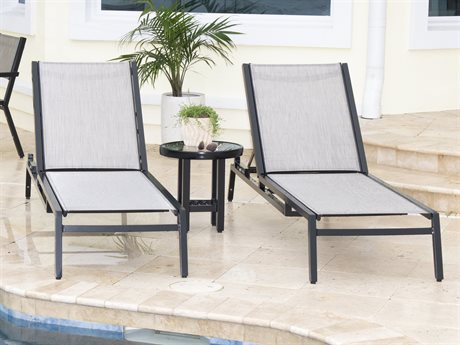Woodard Palm Coast Sling Aluminum Lounge Set