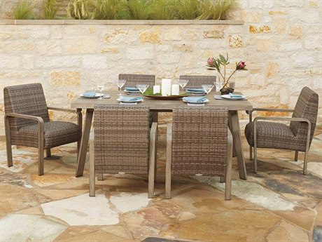 Woodard Reynolds Wicker Dining Set