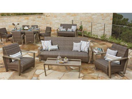 Woodard Reynolds Wicker Lounge Set
