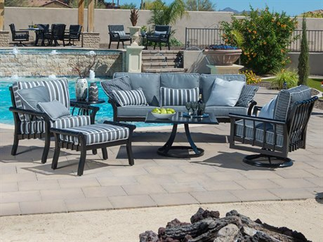 Woodard Rhyss Aluminum Lounge Set