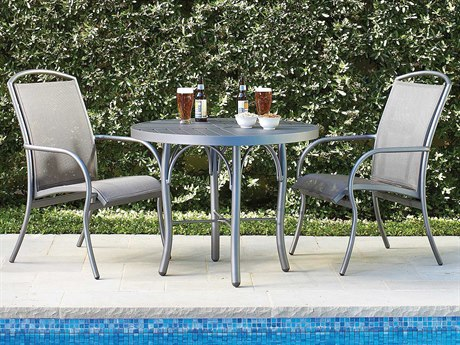 Woodard Rivington Sling Aluminum Dining Set