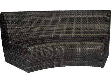 Woodard Canaveral Wicker Genie Curved Sofa