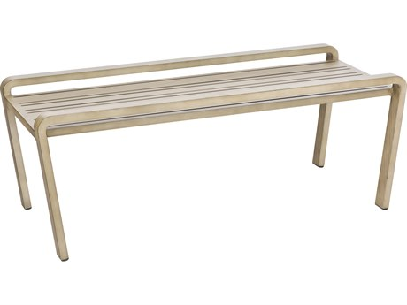 Woodard Reynolds Aluminum 42 x 22.5 Rectangular Coffee Table