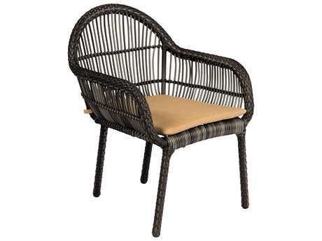 Woodard Canaveral Wicker Cape Dining Arm Chair