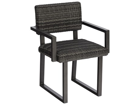Woodard Canaveral Charcoal Gray Wicker Harper Dining Chair