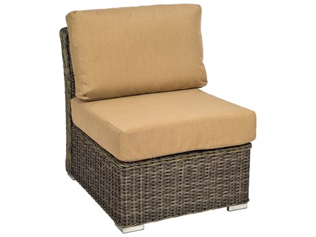 Woodard Bay Shore Wicker Sectional Unit