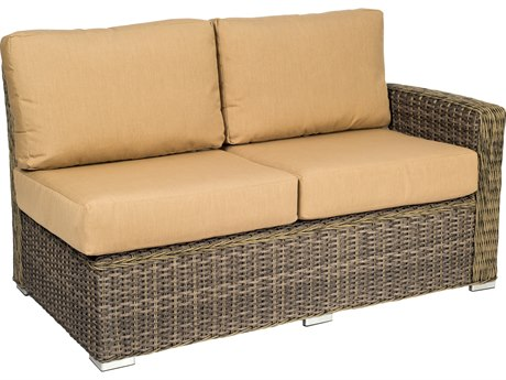 Woodard Bay Shore Wicker RAF Sectional Loveseat