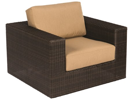 Whitecraft Montecito Coffee Wicker Swivel Lounge Chair