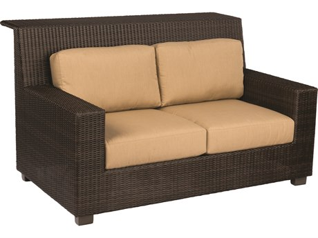 Woodard Montecito Coffee Wicker Loveseat Bar