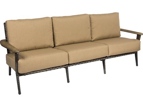 Woodard Draper Calico Wicker Sofa