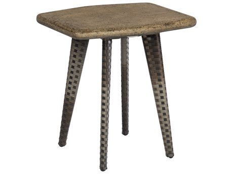 Woodard Draper Calico Wicker 22''W x 18''D Rectangular End Table
