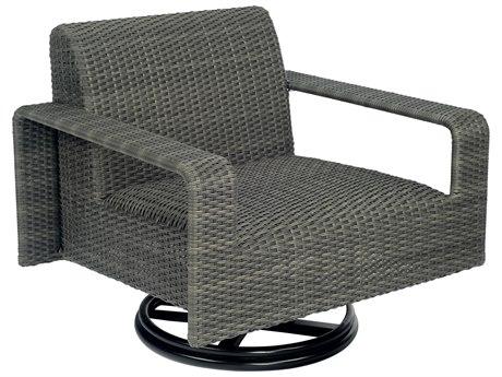 Woodard Darville Wicker Swivel Lounge Chair