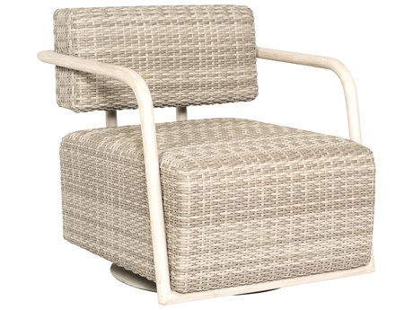 Woodard Scout Wicker Siberian Swivel Lounge Chair PatioLiving