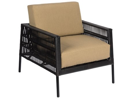 Woodard Maiz Mahogany Wicker Lounge Chair