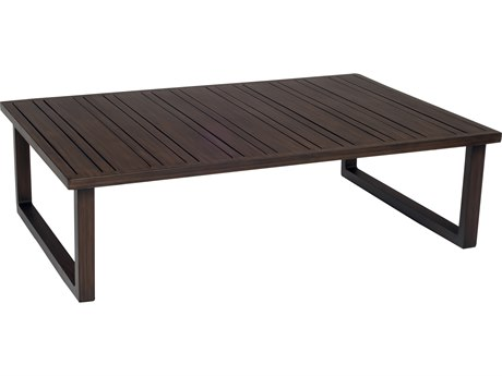 Woodard Hony Aluminum 41.75 x 29 Rectangular Coffee Table