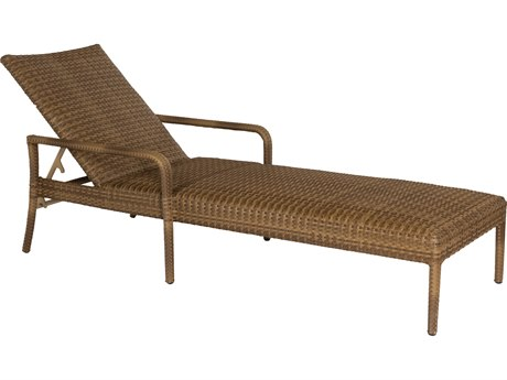 Woodard Whitecraft All Weather Padded Wicker Chaise Lounge