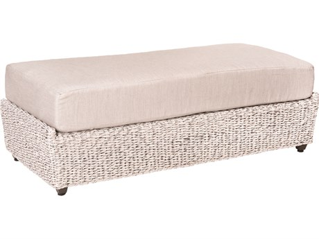 Woodard Whitecraft Isabella Wicker Double Ottoman