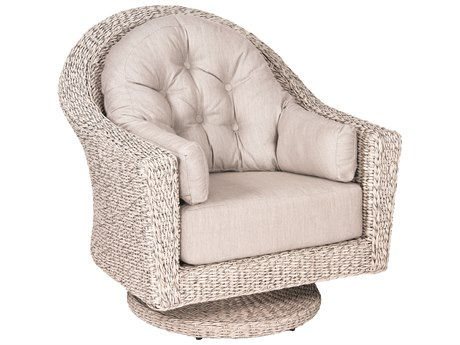 Woodard Whitecraft Isabella Wicker Swivel Lounge Chair
