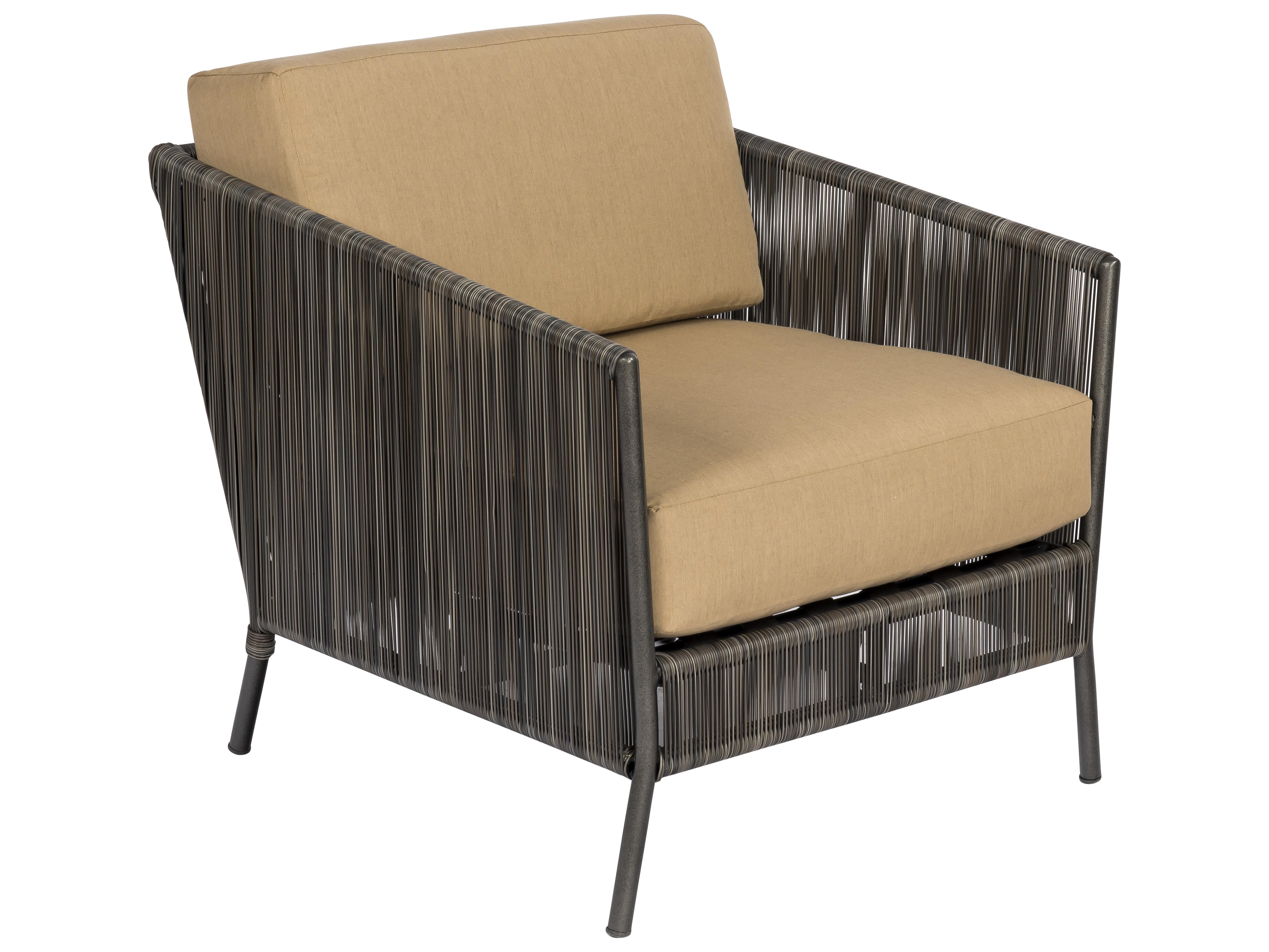 Woodard Sonata Slate Wicker Lounge Chair S555011