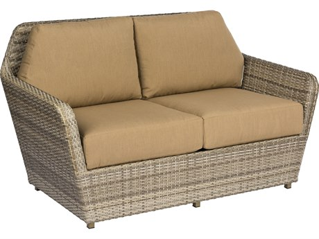 Woodard Pueblo Storm Wicker Loveseat