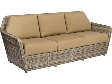 Woodard Pueblo Sand Storm Wicker Sofa