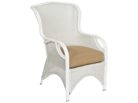 Woodard Heirloom Wicker Pristine White Occasional Lounge Chair