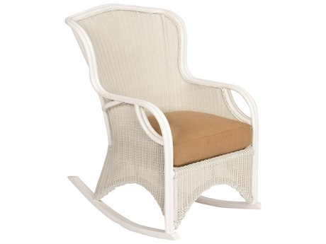 Woodard Heirloom Pristine White Wicker Rocker