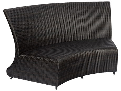 Woodard Martine Black Olive Wicker Loveseat