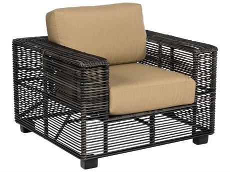 Woodard Monroe Cushion Wicker Storm Lounge Chair