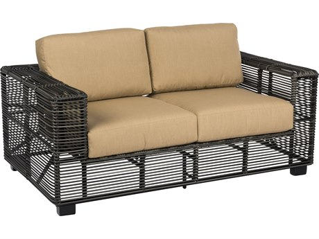 Woodard Monroe Storm Wicker Loveseat