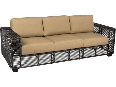 Woodard Monroe Storm Wicker Sofa