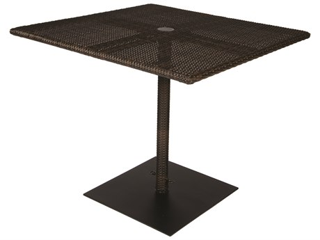 Woodard Whitecraft All-Weather 36 Square Table with Umbrella Hole