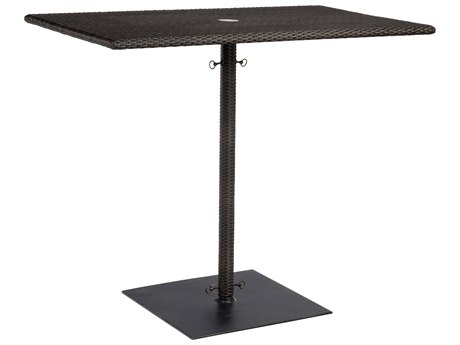 Woodard Whitecraft All Weather 48''W x 30''D Rectangular  Bar Height Table with Umbrella Hole