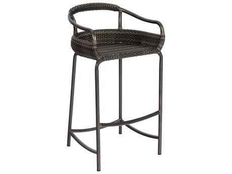 Woodard Canaveral Nelson Wicker Bar Stool WRS600089