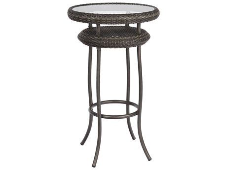 Woodard Canaveral Wicker Nelson 24 Round Bar Table WRS600734
