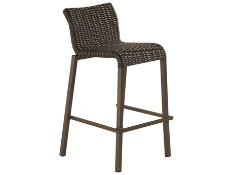 Woodard Whitecraft All Weather Aztec Wicker Lane Bar Stool