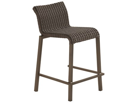 Woodard Whitecraft All Weather Aztec Wicker Lane Counter Stool