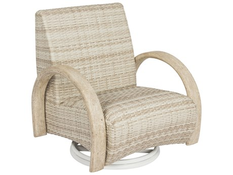 Woodard Eclipse Dune Wicker Swivel Rocking Lounge Chair