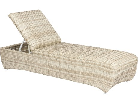 Woodard Eclipse Dune Wicker Chaise Lounge
