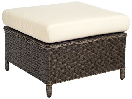 Woodard Savannah Wicker Cushion Ottoman