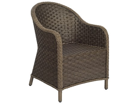 Woodard Savannah Wicker Cushion Dining Arm Chair