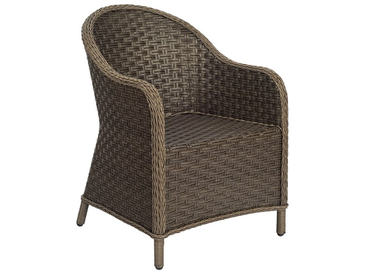 Bon Woodard Savannah Wicker Cushion Dining Arm Chair | S620501