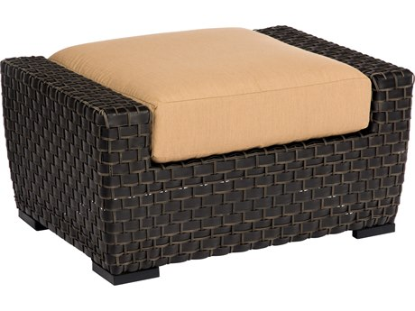 Woodard Cooper Wicker Cushion Ottoman