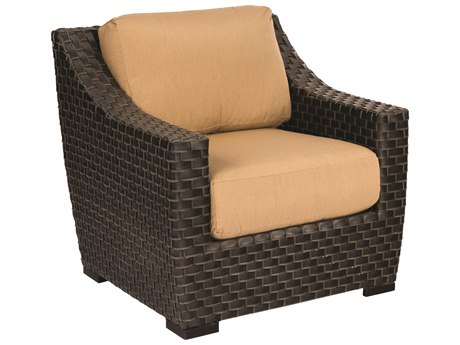 Woodard Cooper Wicker Cushion Lounge Chair