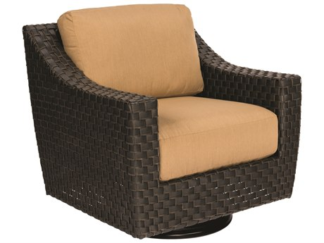 Woodard Cooper Wicker Cushion Swivel Lounge Chair