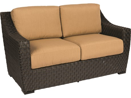 Woodard Cooper Wicker Cushion Loveseat