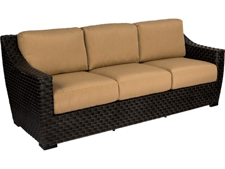 Woodard Cooper Wicker Cushion Sofa